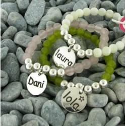 pulsera de plata y piedras