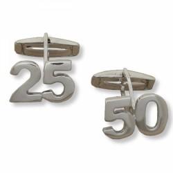 Gemelos personalizados con letras iniciales o números